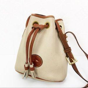 Vintage Dooney & Bourke Taupe Bucket Bag
